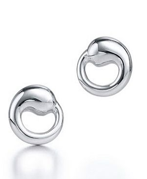 Tiffany Outlet Elsa Peretti Eternal Circle Earrings