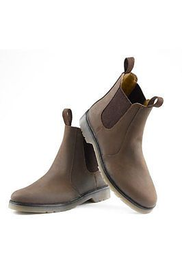 Mens new waxy oily brown #chelsea #dealer #boots free p/p,  View more on the LINK: http://www.zeppy.io/product/gb/2/280799915300/