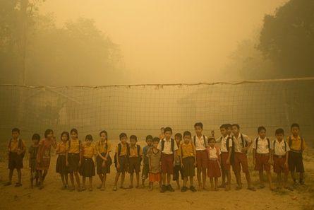 Children in the haze