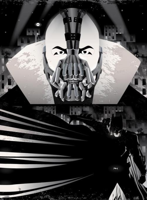 Bane/Batman  Illustration by Eos Vector: Legends, Bats, Daily Inspiration, Digital Art, Art Selection, Inspiration 1137, Eos Vector, Bane Batman Illustrations, Banebatman Illustrations