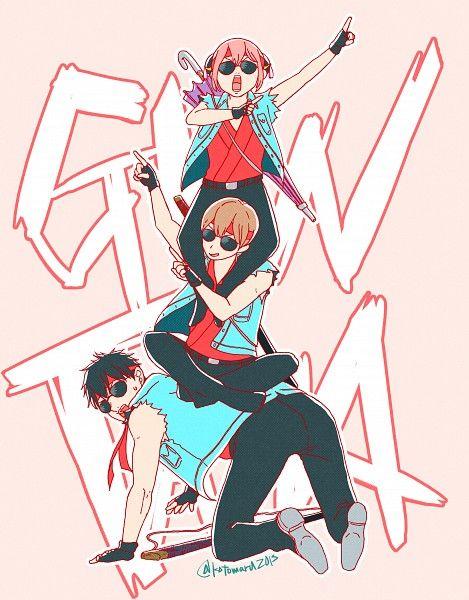 Gintama: Kagura, Okita, and Hijikata