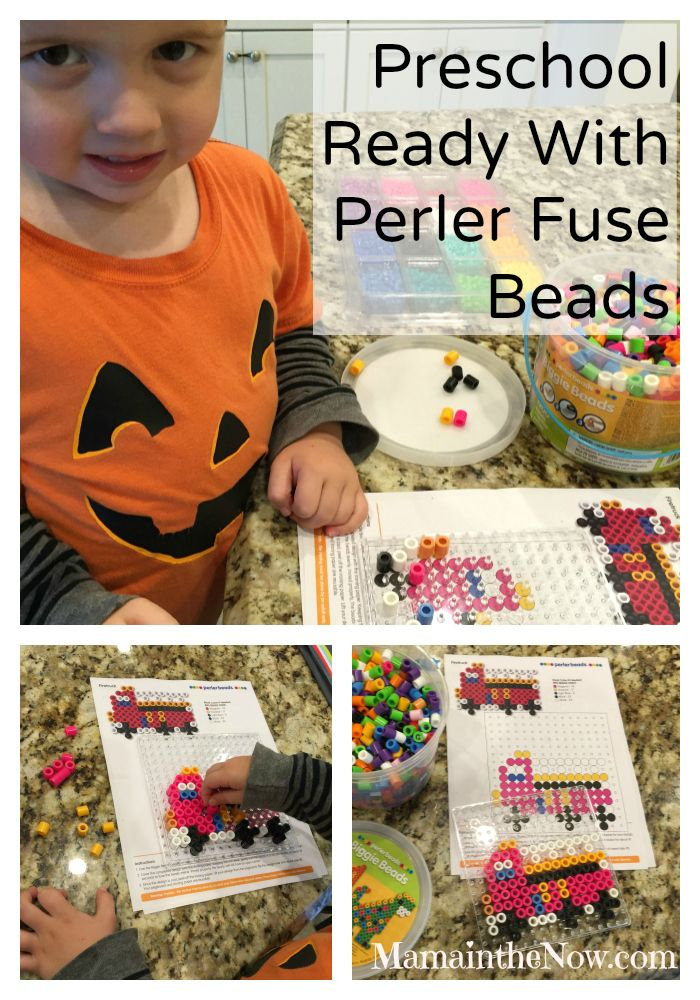 Preschool Ready with Perler Fuse Beads.  Everything you need to have fun with fuse beads: Instructions, inspiration and lists of items needed!