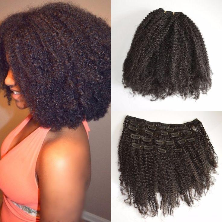 3c, 4a, 4b, 4c afro kinky kıvırcık klip İnsan saç uzantıları doğal siyah hint kıvırcık saç saç uzantıları yılında klip