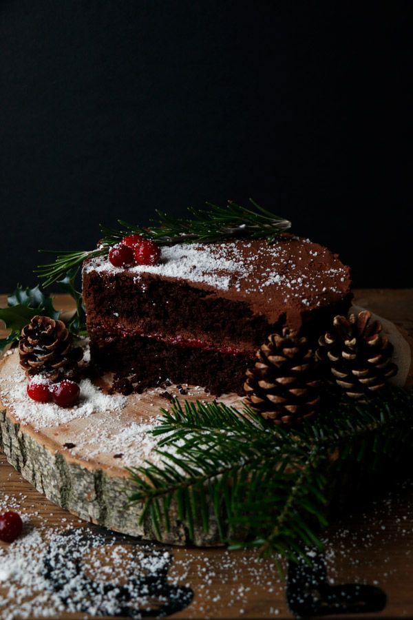 Vegan Chocolate Christmas Cake Gluten Free Nut Free