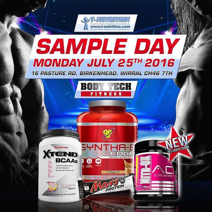 This Monday 25th July 6pm Onwards: Sample Day / Open Evening with T-Nutrition & Totum Fitness at Body Tech Fitness Moreton - Come and train at the best gym on the Wirral for FREE. - Be one of the first to sample Anabolic Designs NITR-OX Pre-Workout for FREE  only released for sale TODAY come and have a scoop 20 mins before you train and in the words of Owner Joe Binley - VAS-UP!! - DJ Corey James will be spinning' the beats. - Bodyweight Challenges - Samples of This Months Offers - BSN…