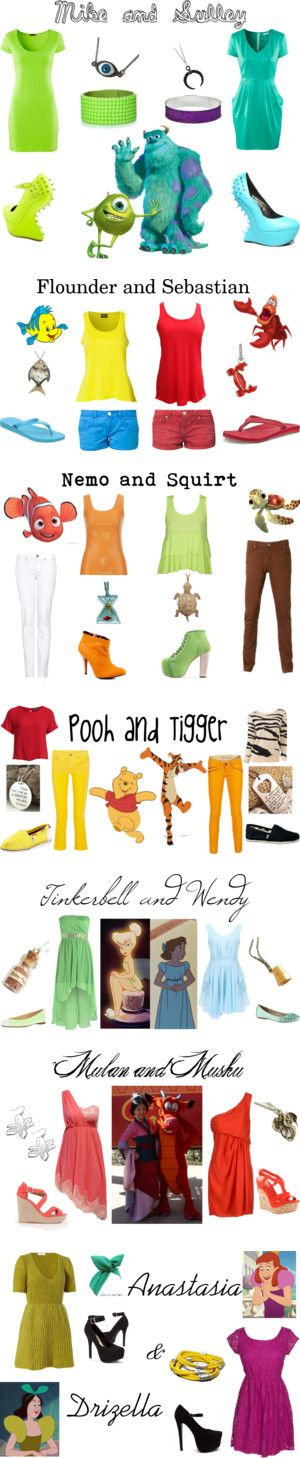 """Disney BFFs"" by mutt81 on Polyvore"