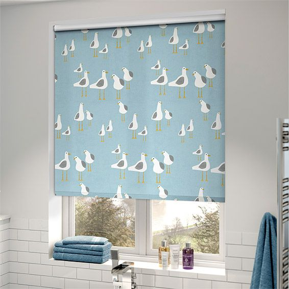 Splash Gulls Seaside Blue Roller Blind From Blinds 2go