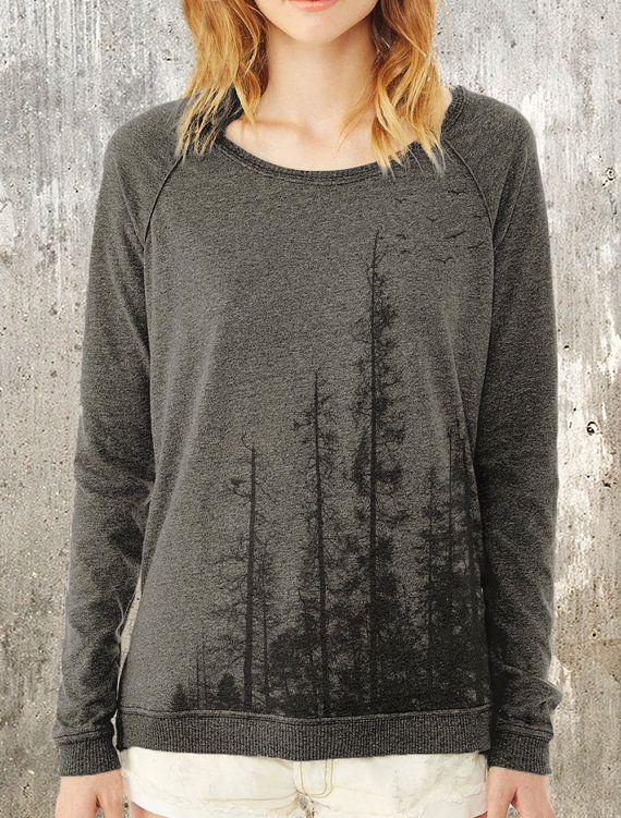 Pinienwald - Damen-Pullover-Sweater - Alternative Apparel Umkleideraum Pullover-Damen Small - XL verfügbar