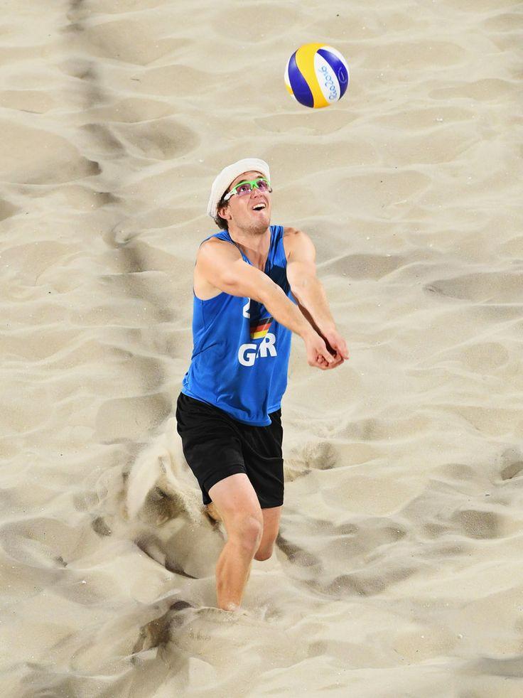 DAY 1:  Men's Beach Volleyball - Germany vs Poland - Lars Flueggen of Germany