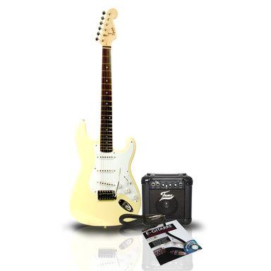 Fender Squier Bullet Strat AW + Fame PL10, Kabel, Notenbuch : Elektrische gitaren