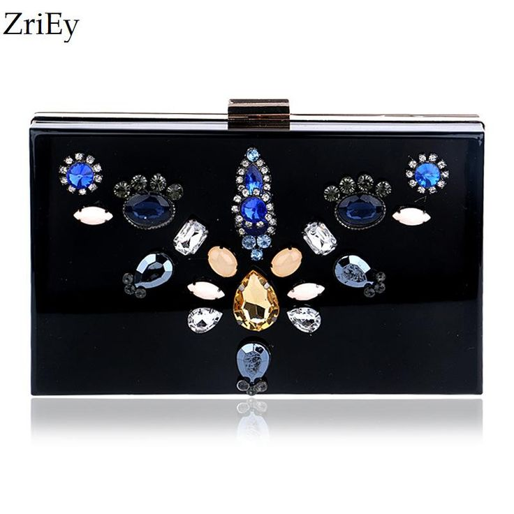 Dress Evening Bags Europe and America Delicate Floral Diamond Acrylic Clutch Day Clutches Nightclubs Evening Bag