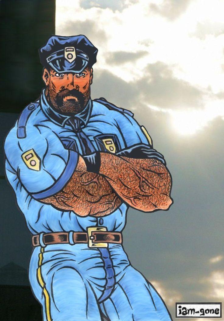 Gay police cartoon