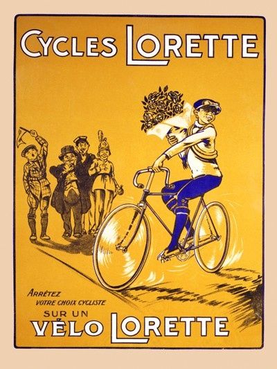 """Lorette"" bicycle poster"