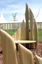 sculptural garden furniture quirky garden benches in wood sustainable handmade wooden garden furniture craftsman made garden tables and seats
