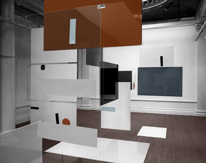 an Exhibit, Richard Hamilton Lawrence Alloway and Victor Pasmore 1957