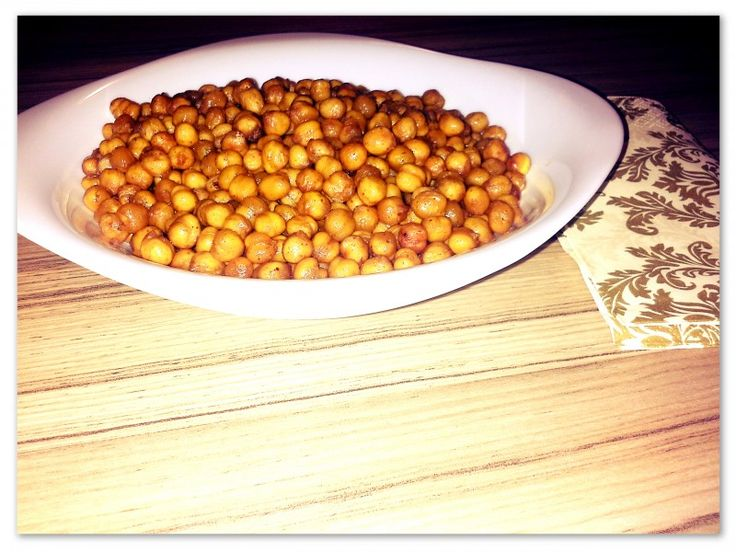 Food: Healthy Snack – baked chickpeas  DELICIOUS!