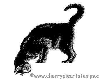 Goth HAPPY HALLoWEEN BAT flourish 1 or 2 by cherrypieartstamps