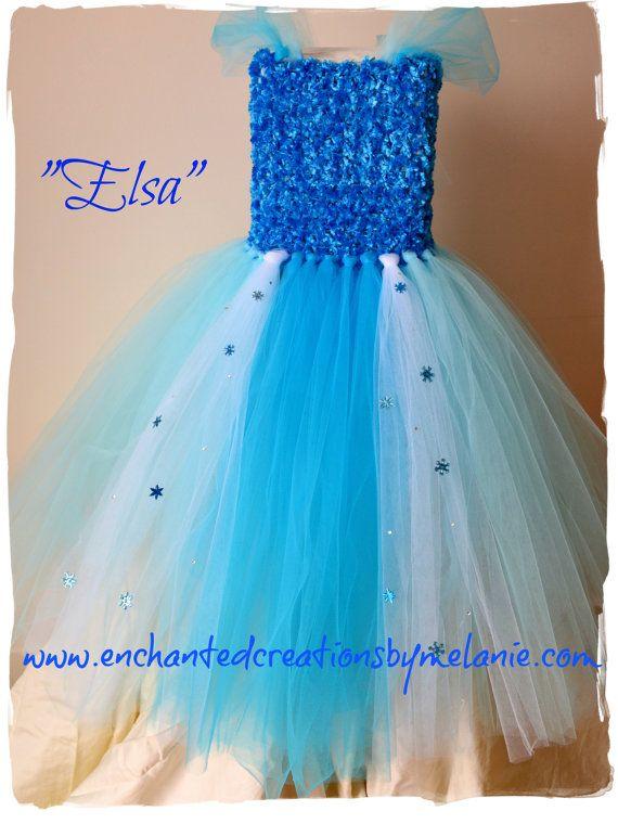 Elsa Tutu Dress  From the Disney movie by EnchantedbyMelanie, $90.00