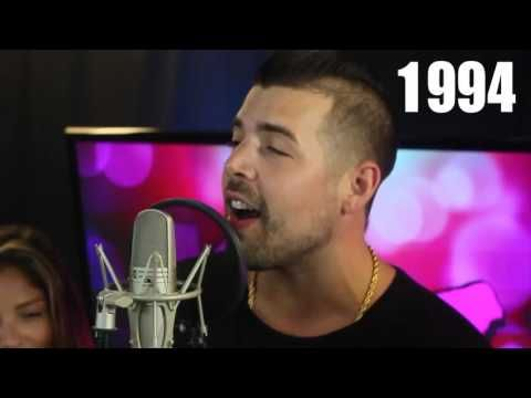 Guy sings every hit song from the 90's & 2000's over one beat! - YouTube