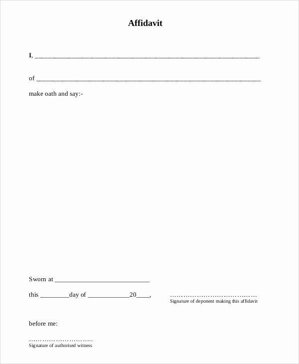 Sworn Letter Sample