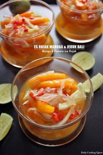 Es Rujak Mangga dan Jeruk Bali - Mango and Pomelo Ice Rojak