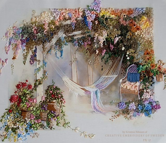 A Hammock by Kristina Nilsson of C R E A T I V E  E M B R O I D E R Y  O F  S W E D E N