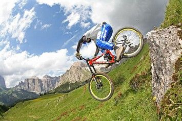 Mountain bike downhill slopes and tracks