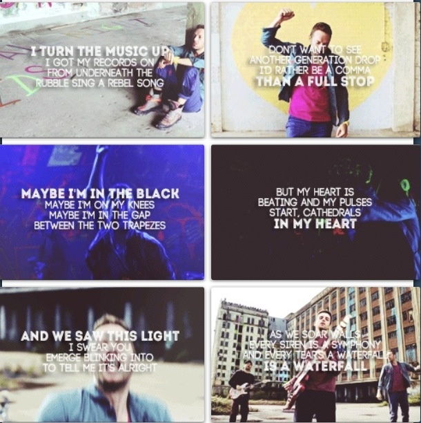 Coldplay- everyteadrop is a waterfall ! love this song <3 love this album !