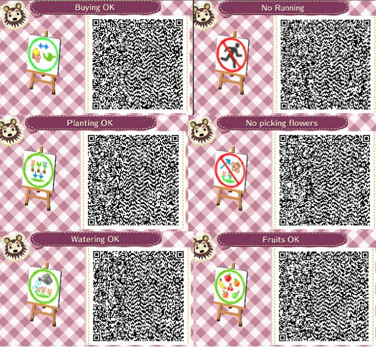 More cute signs! Animal Crossing New Leaf Qr Codes
