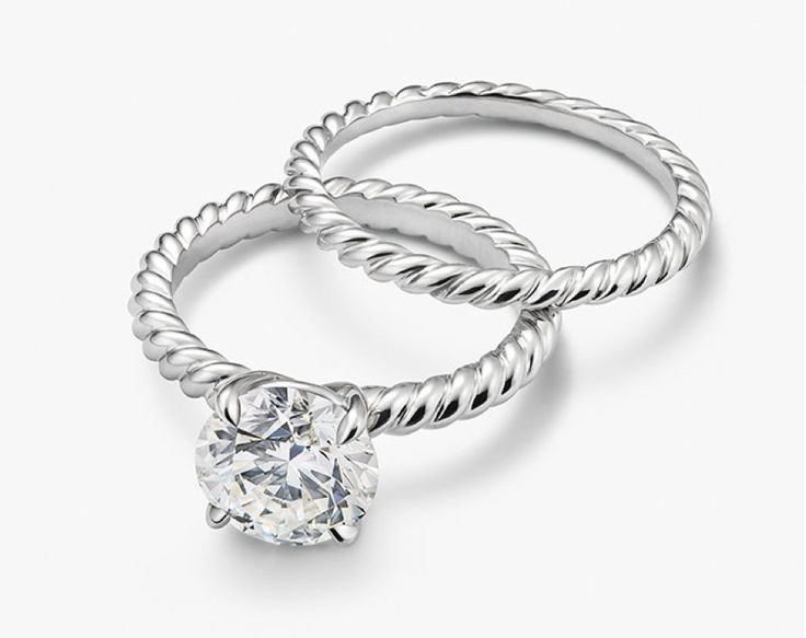 qdck engagement listing il ring rope rings twisted cable solitaire
