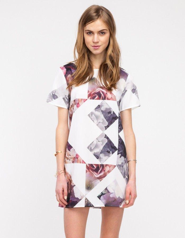 Geo Print Tee Dress