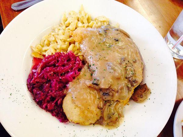 Siegi's German Restaurant and Market located in South Tulsa Jager Schnitzel  tulsafood.com
