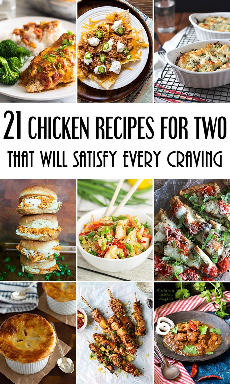 21 Chicken Recipes For Two That Will Satisfy Every Craving! #chicken | yummyaddiction.com
