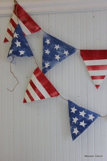Maison Decor: Patriotic Bunting,Painted furniture and Parties