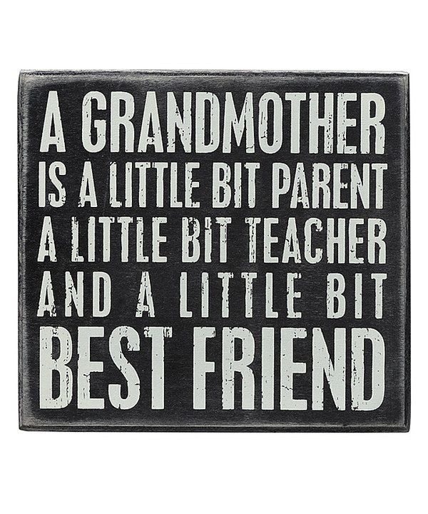 Primitives by Kathy 'Grandmother' Box Sign by Primitives by Kathy #zulily #zulilyfinds