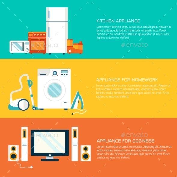 Flat Home Electronics Appliances