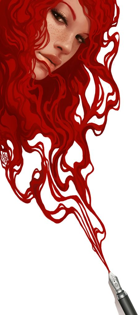 Red Ink by `DanielaUhlig Digital Art / Drawings Paintings / Illustrations / Conceptual very cool