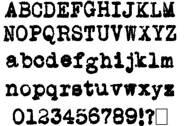 Fonte 14 - máquina de escrever