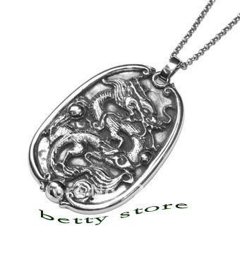 >> Click to Buy << 925 Sterling Silver Pendant For Men Silver China Jewelry  Dragon Pendant Chinese Culture Unique Pendant Free Shipment #Affiliate