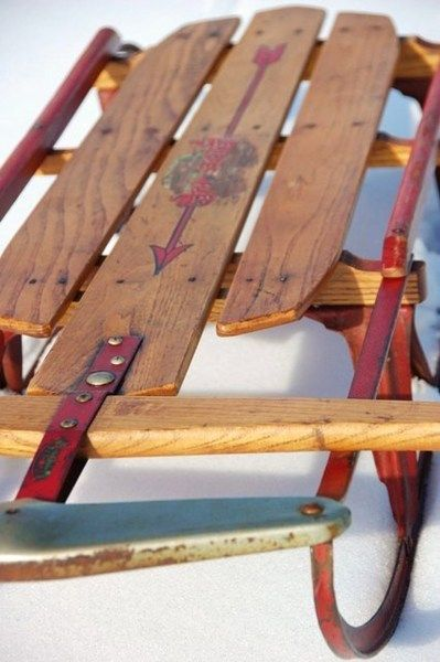Wooden sleds