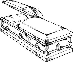 Гроб рисунки для срисовки