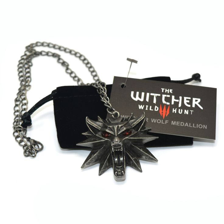 The Witcher 3 Wild Hunt Medallion Pendant and Chain Necklace 1 Bag and 1 Card Wholesale Cheap Price