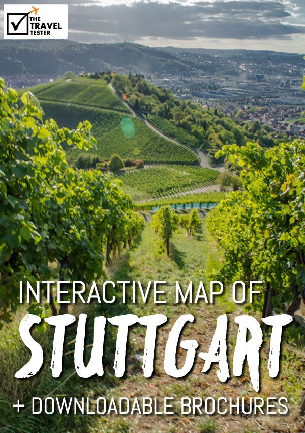 Awesome Map of Stuttgart u Brochures to Download