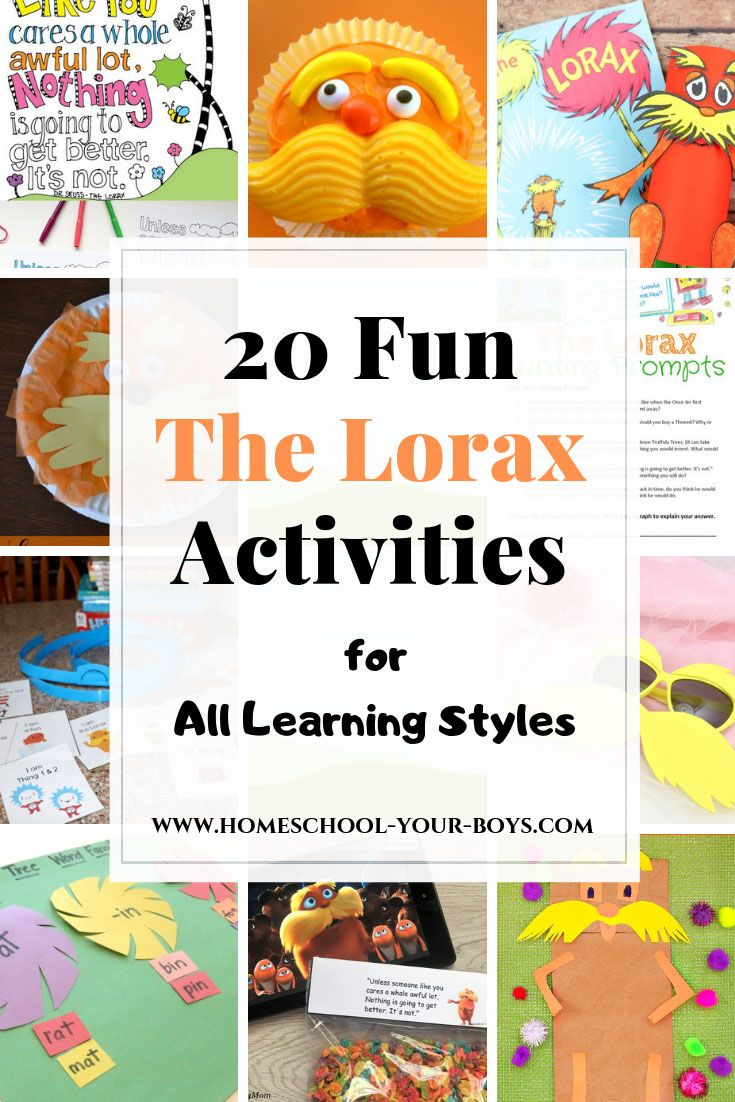 20 Fun The Lorax Activities For All Learning Styles Lorax Activities The Lorax Activities The Lorax