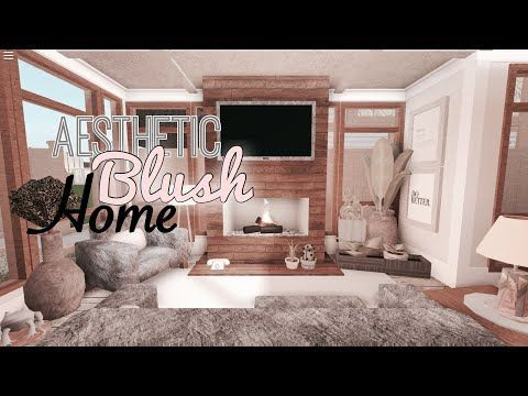 Roblox Bloxburg Aesthetic Blush Home Tour 110k Liebevolle Asche Tiny House Layout House Decorating Ideas Apartments Tiny House Bedroom Living room aesthetic bloxburg house