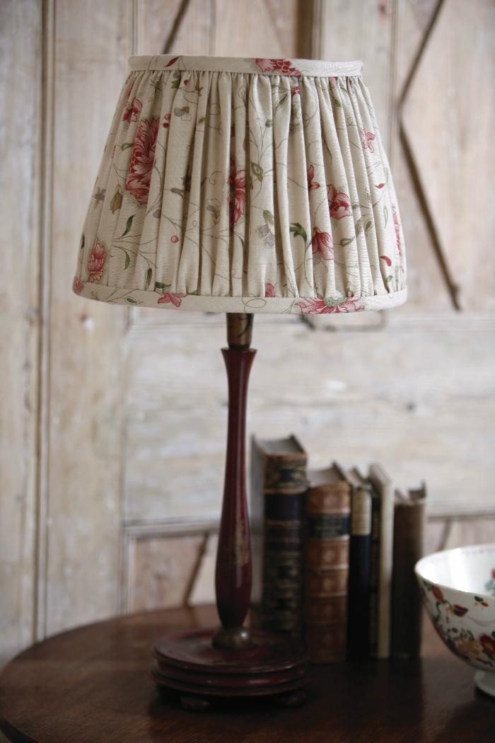 Decorative lampshades can add richness & warmth to a space. This is a gathered lampshade by Kate Forman / http://www.kateforman.co.uk/shop/inspirations/
