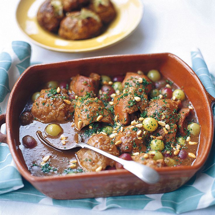 Chicken Braised in Sherry Vinegar with Grapes - Woman And Home