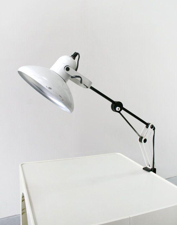 Vintage Polish Polam White Adjustable Office Desk by WestEstShop