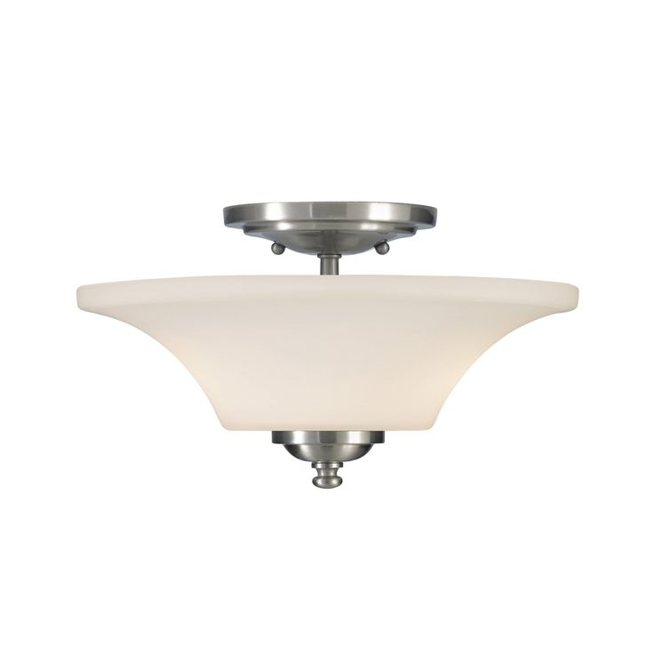 Home solutions barrington 13 inch semi flush mount