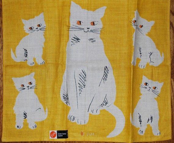 vera cat kitchen towel: Eye Cat, Kitchens Towels, Teas Towels, Cat Vera, Adorable Cat, Kitchen Towels, Cat Kitchens, Towels Etsy, Cat Vintage